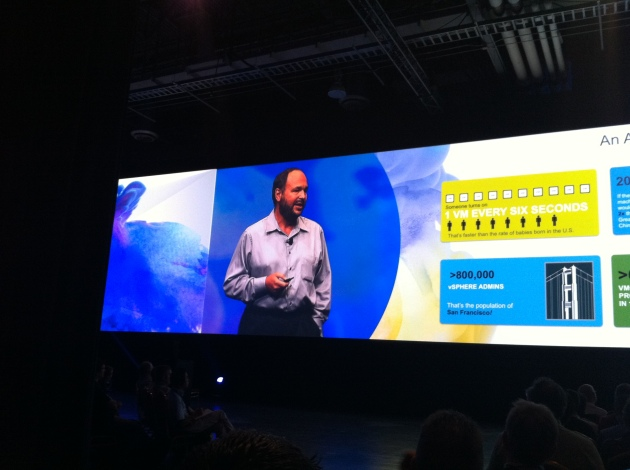 VMware CEO Paul Maritz talking at the first General Session