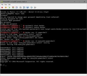 PowerShell running on VMware Photon OS