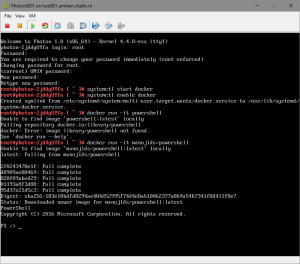 PowerShell running on VMware Photon OS