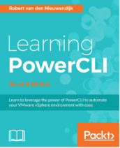"""Learning PowerCLI - Second Edition"" book cover"