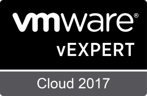 VMware vExpert Cloud 2017 logo